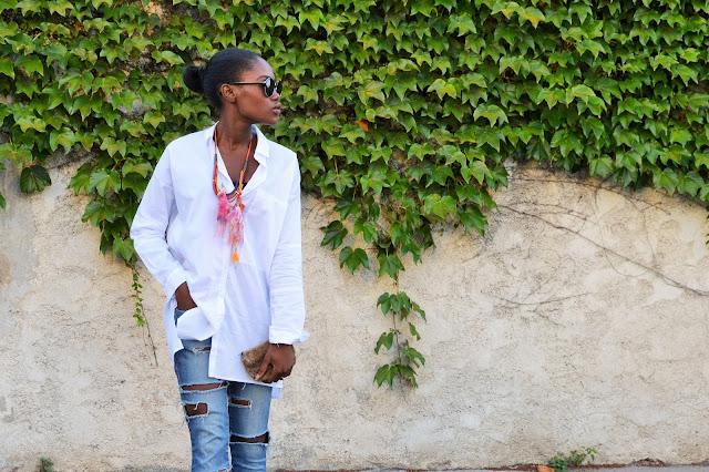 blog mode afro, blog mode marseille, look, jean déchiré, chemise loose