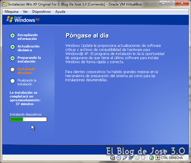 iso windows xp 32 bits para virtualbox