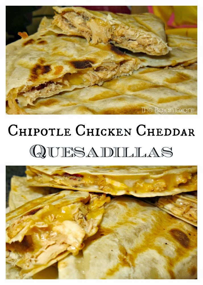 Chipotle Chicken Cheddar Quesedillas, shared by The Bajan Texan