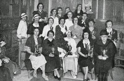 Participantes en el I Torneo Femenino de Ajedrez Madrid 1934