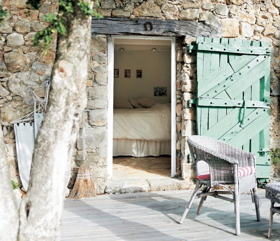 A renovated barn house for a family of four in the French countryside via IKEA Family Live. #country #home #stone