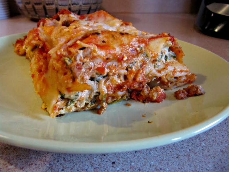 Spinach Lasagna - Popeye and Garfield Approved!