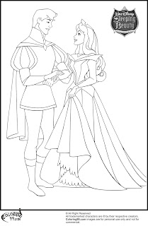 aurora and prince phillip coloring pages