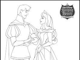 Princess Aurora And Prince Phillip Coloring Page