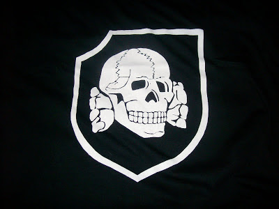 the 3rd SS Division's Totenkopf flag