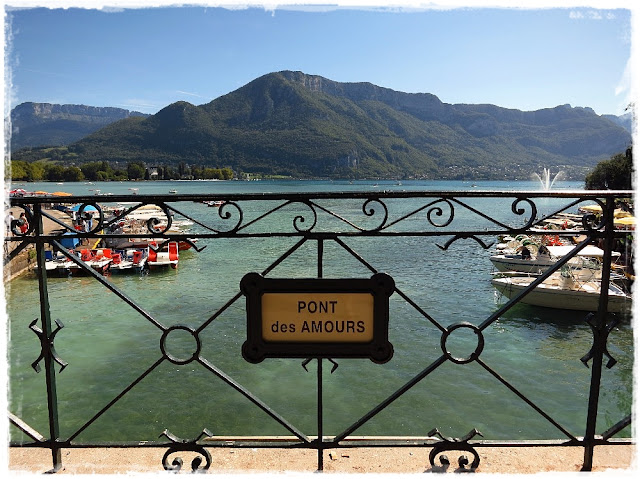Pont des Amours bridge in Annecy, France.