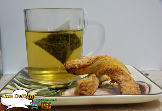 twist cookies and green tea