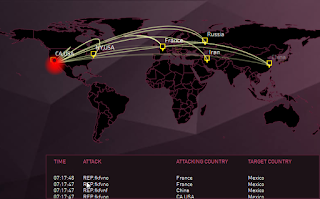 Digital Map Cyber Attacks 2015 – Peta Serangan Ddos Attack Dunia