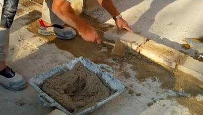 El maestro de obras xavier valderas construir un muro de for Mortero para ladrillos