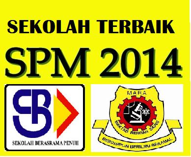 Ranking Sekolah Terbaik SPM 2014 SBP Dan MRSM 2015