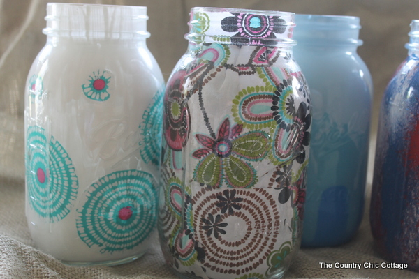 decorating mason jars five ways