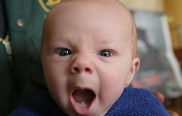 angry yawn