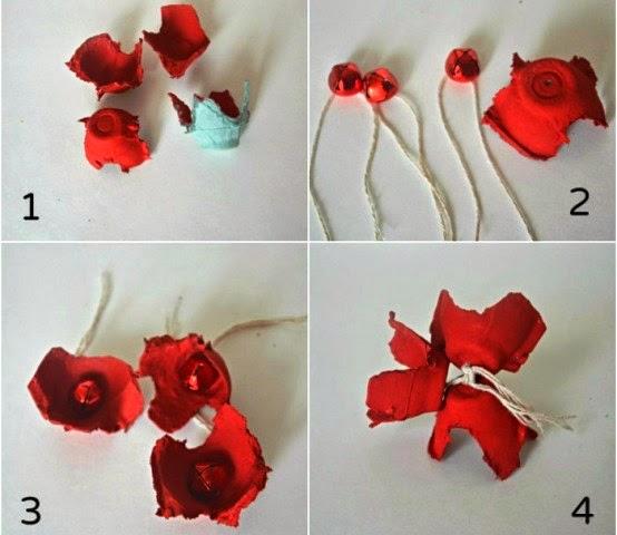 Kreasi Bunga Kertas Karton TelurKreasi dan Kerajinan