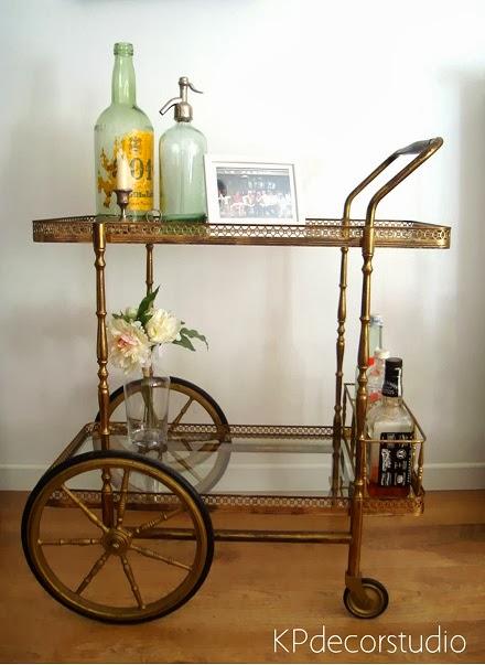Comprar camarera vintage años 40 restaurada. Muebles y mesitas minibar