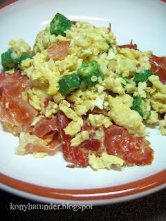okra-ham-scrambled-egg