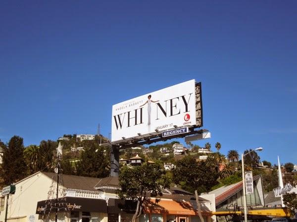 Whitney Lifetime biopic billboard