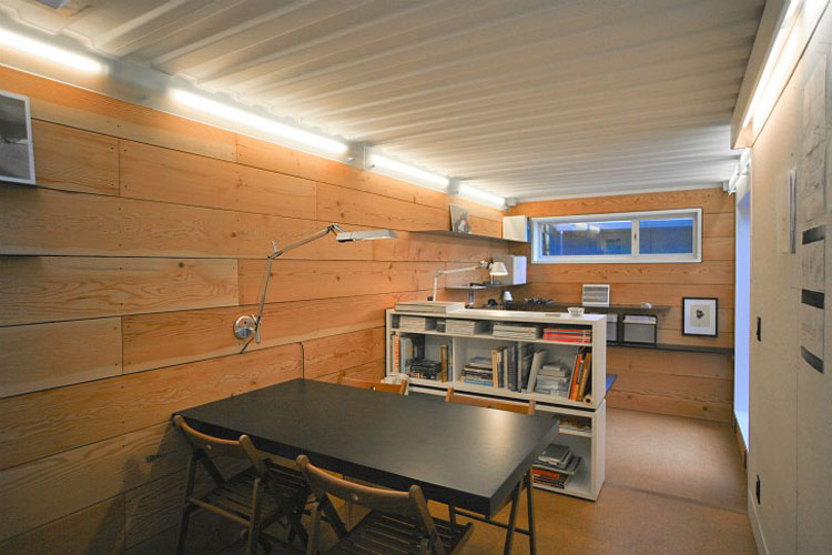 Shipping container homes building lab inc oakland ca shipping container office space - Inside shipping container homes ...
