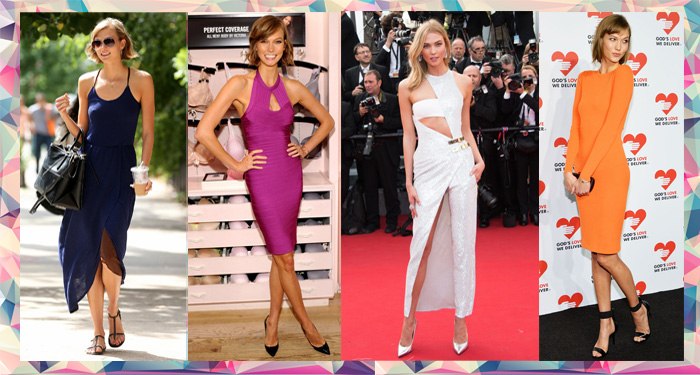 Karlie Kloss shows of her personal style and fashion sense in body con dresses, jumsuits and maxi dresses at red carpet appearances