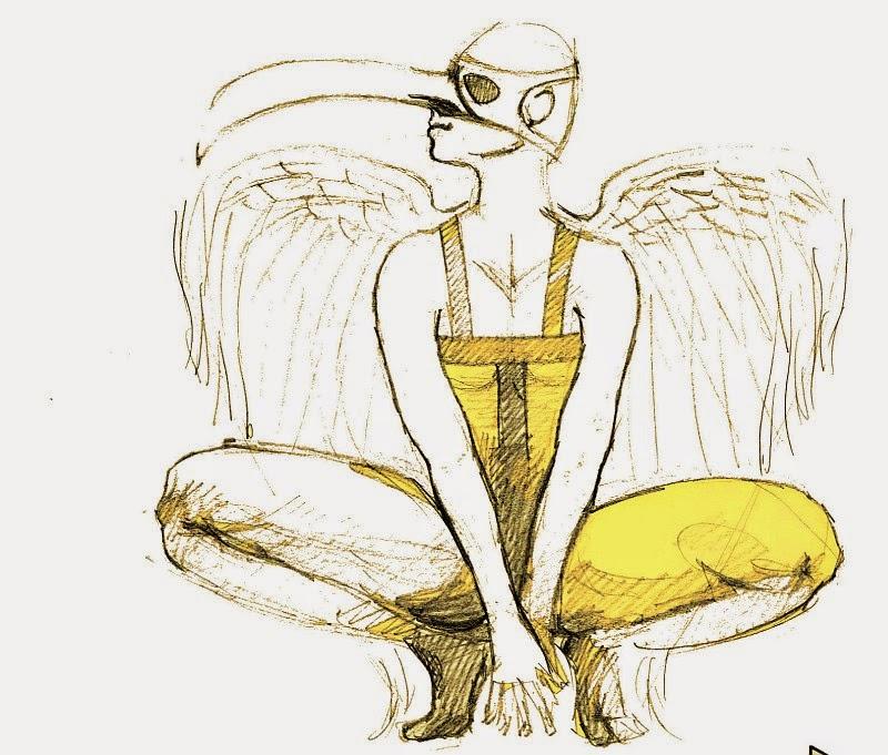 Greifvogel Hor Skizze Zeichnung