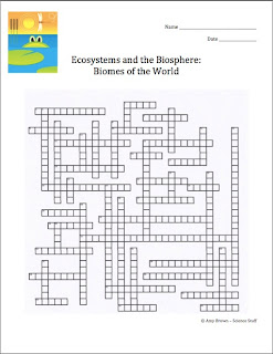 Classroom Freebies: Set of Six Ecology Crossword Puzzles