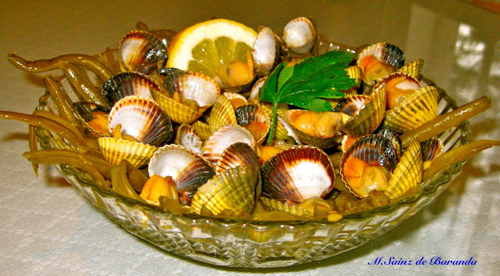 La cocina en el sur judias verdes finas con berberechos - Como cocinar berberechos ...