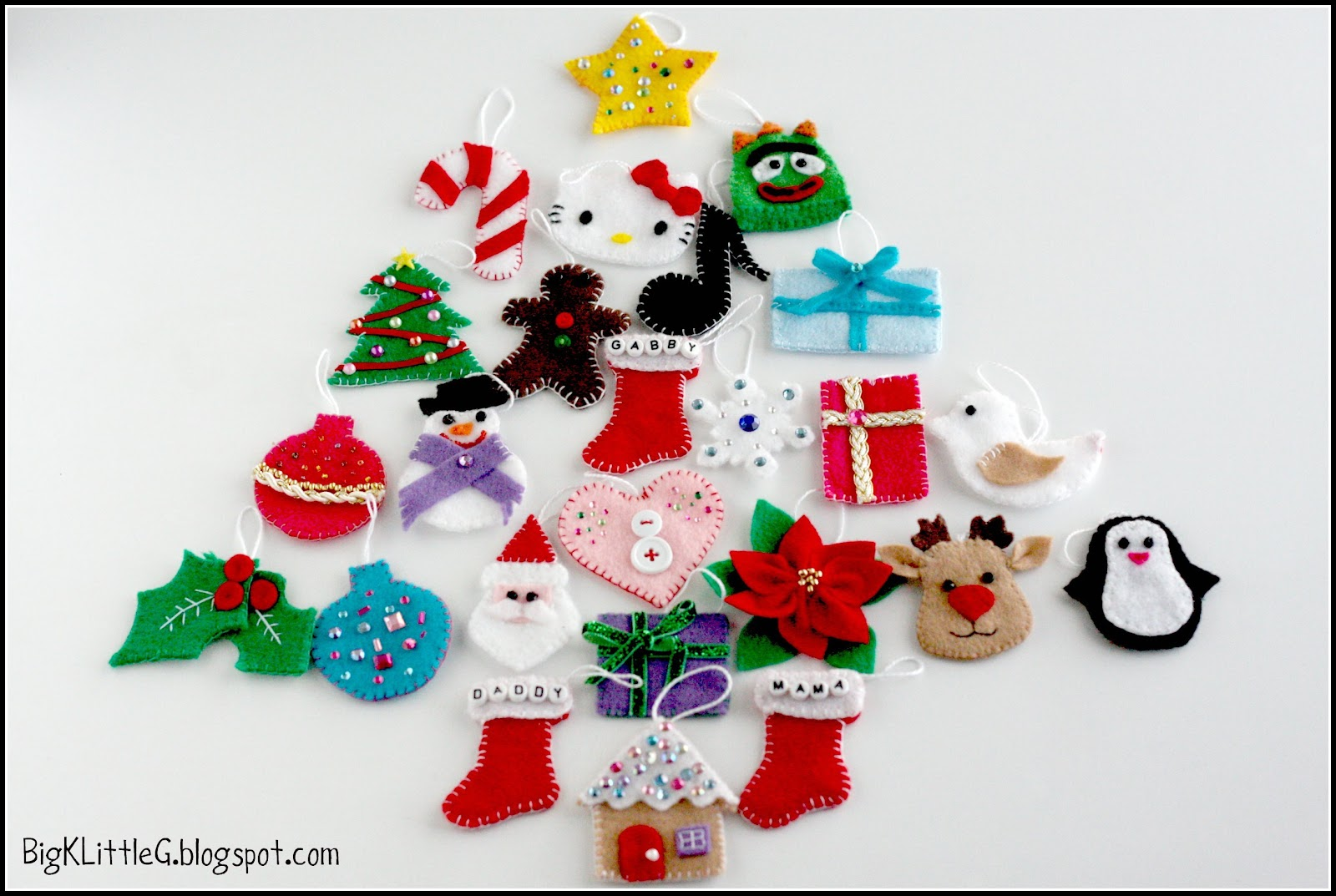 Big K Little G: DIY Felt Christmas Tree Advent Calendar