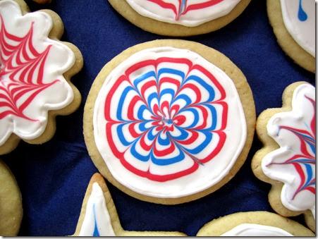 4th of July patriotic cookies
