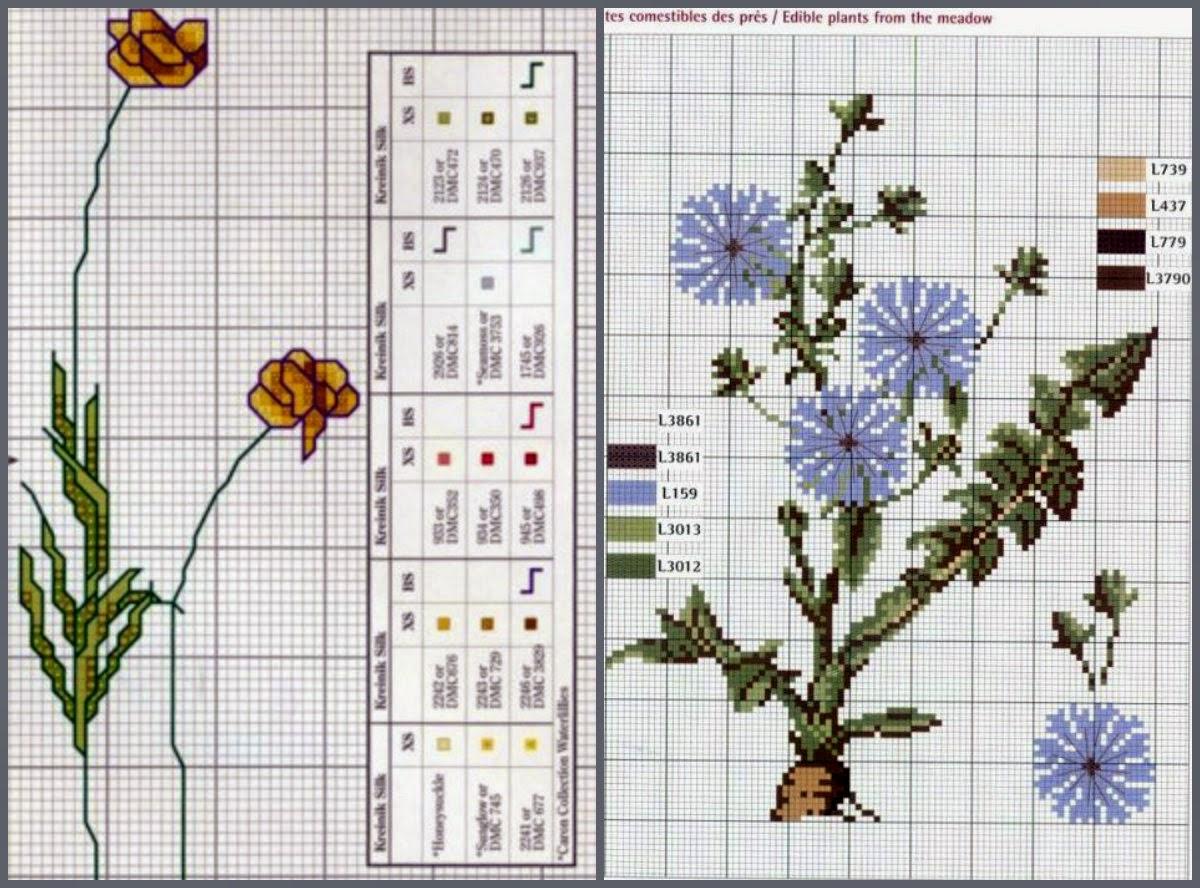 Вышивка полевых цветов 96