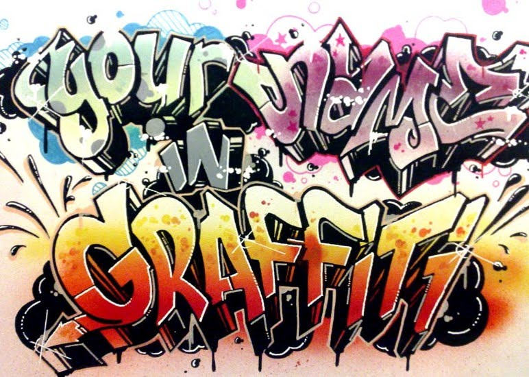graffiti artwork. 3d Graffiti Art
