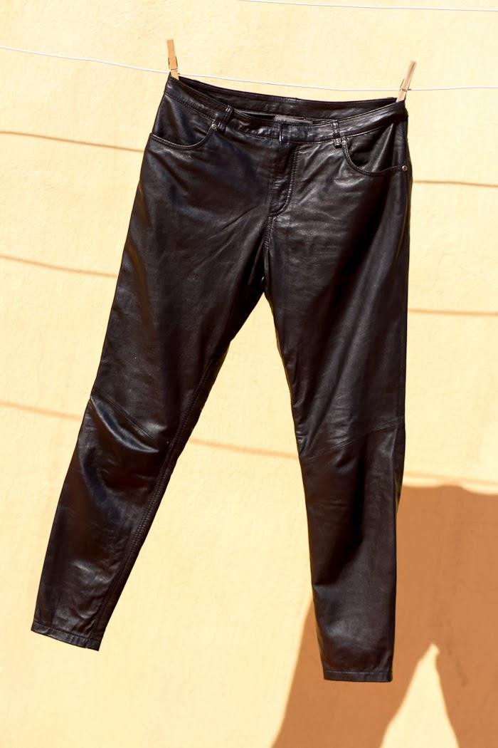 MUUBAA Black LeatherTrousers