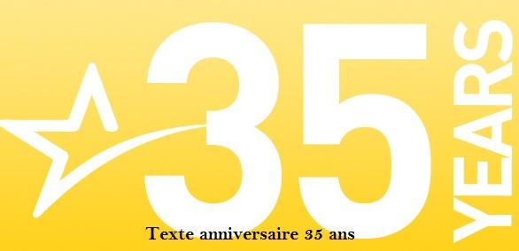 Texte Anniversaire 35 Ans Texte Message Et Poeme D Anniversaire