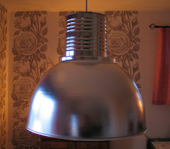 Äkta industri-lampskärm
