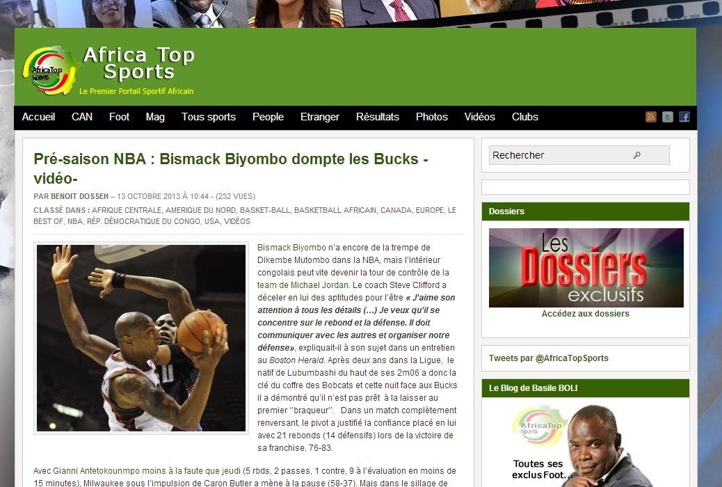 AFRICA TOP SPORTS NBA
