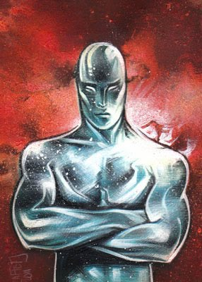 Silver Surfer, ACEO Sketch Card by Jeff Lafferty