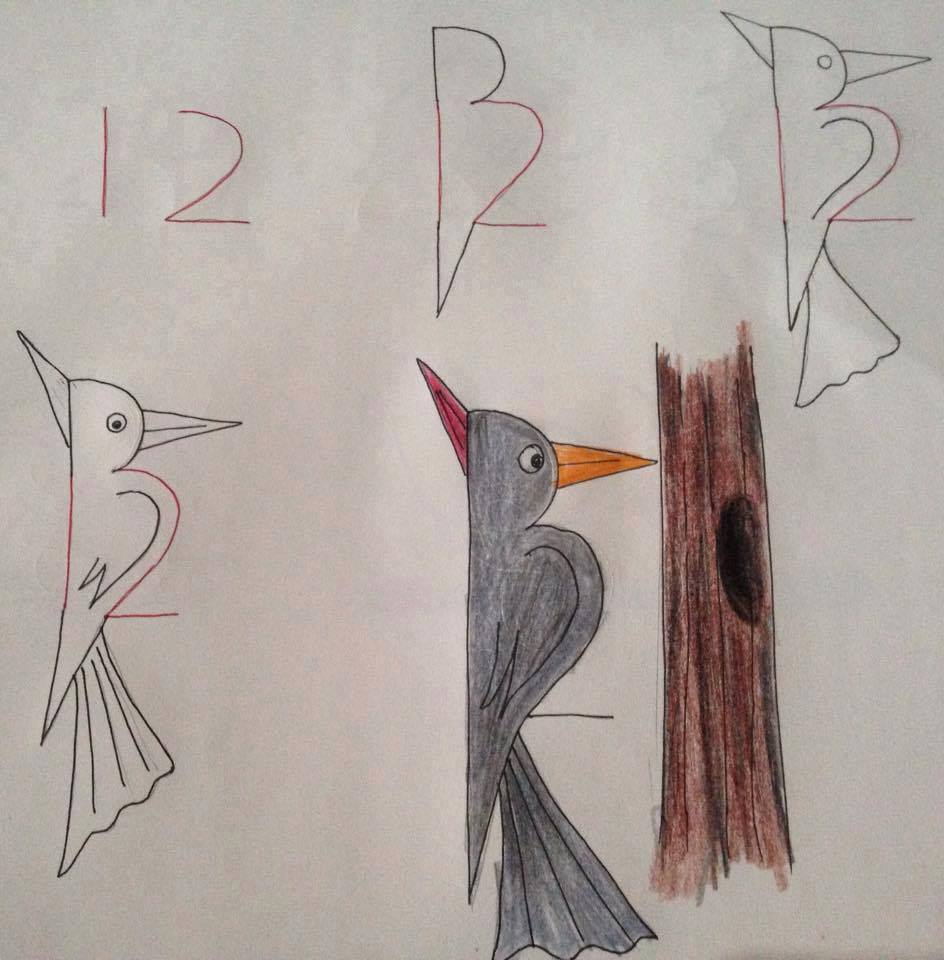 kids number drawing