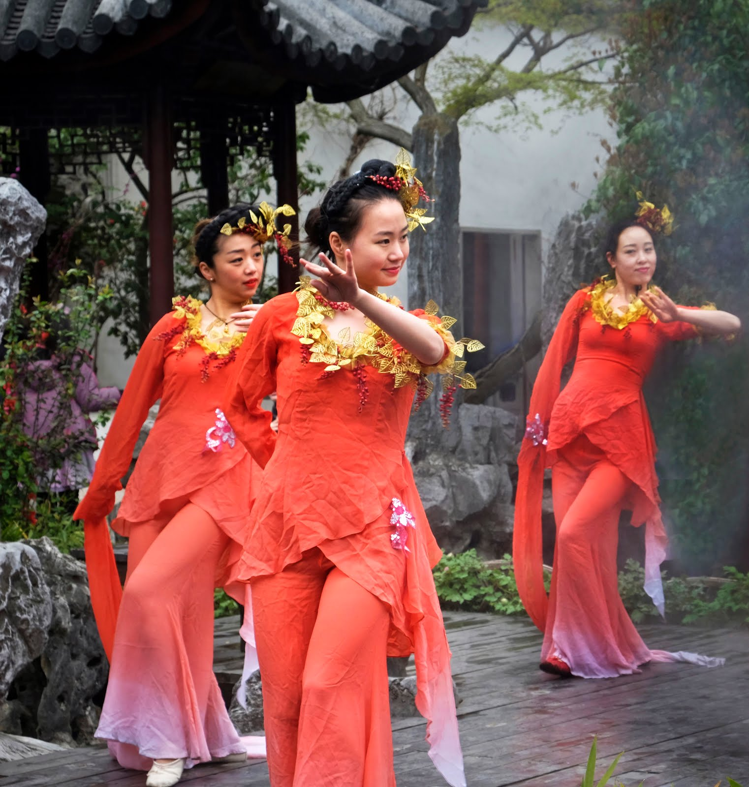 Les danseuses du Jardin Liu