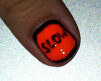 nail art, nail me, slow sign, construction, anna