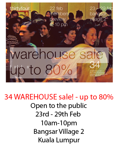 34 Warehouse Sale