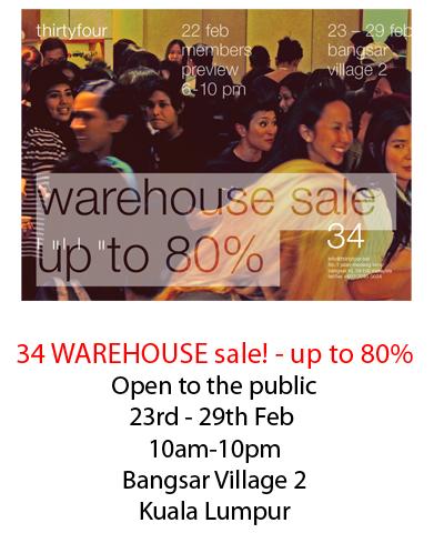 34 Warehouse Sale