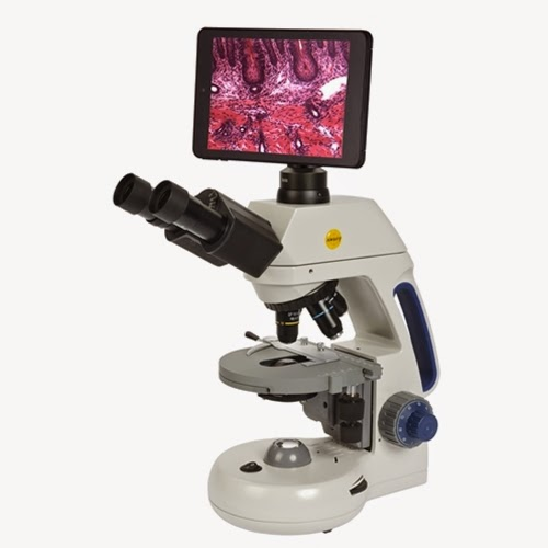 "Swift M10T-MCS tablet WiFi microscopes with 7"" screen."