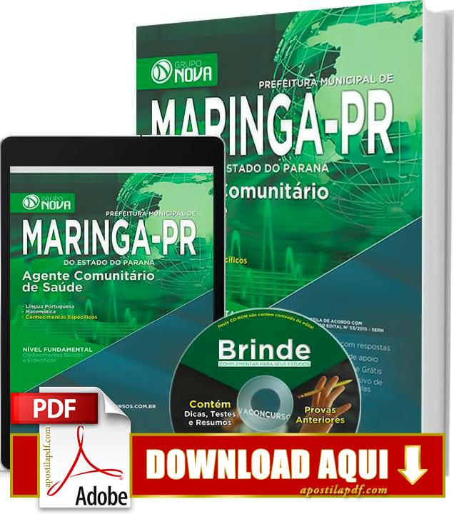 Apostila Maringá 2015 PDF Download Grátis Agente Comunitário de Saúde
