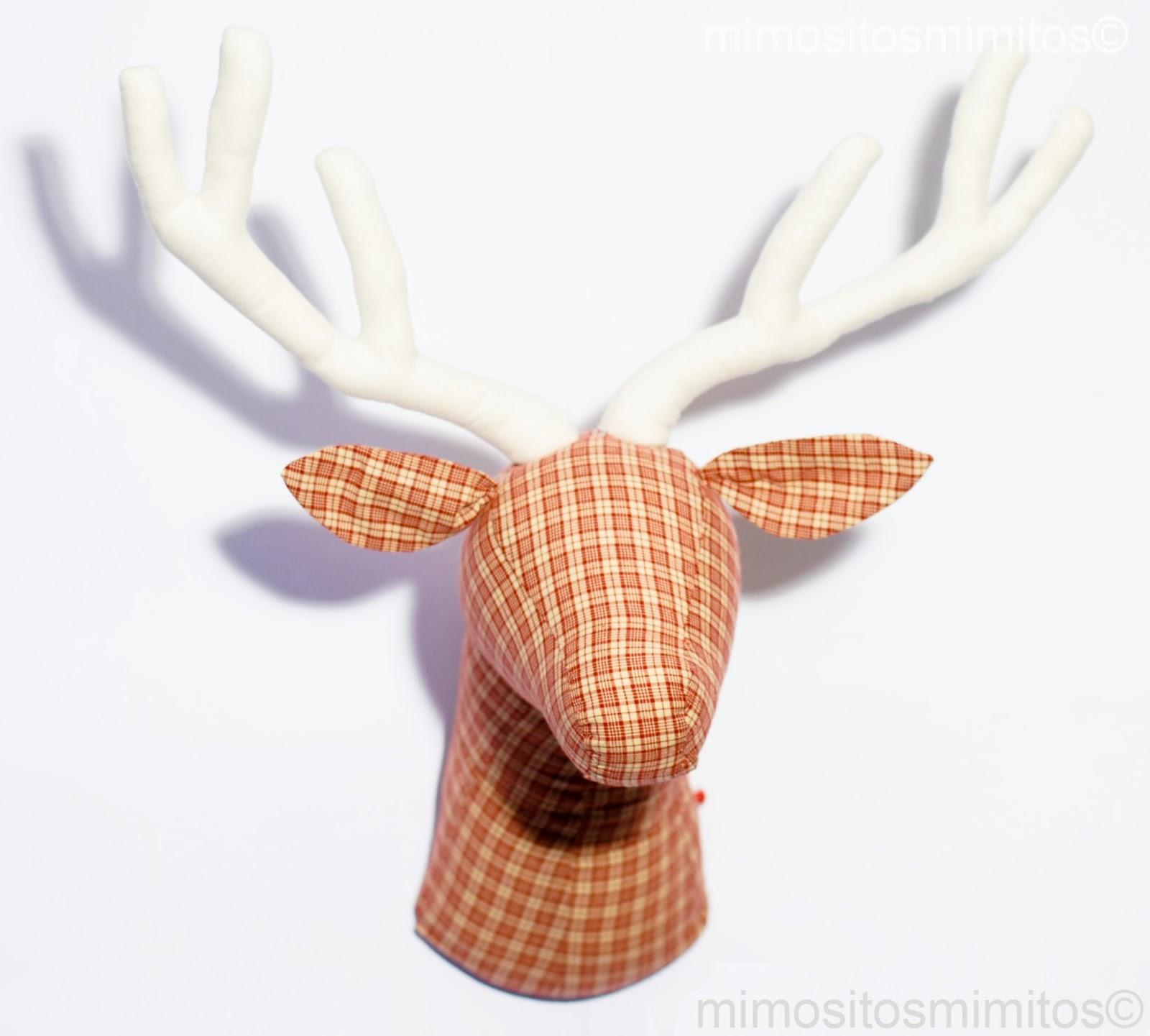 Cabeza ciervo tela mu eco tauromaquia trofeo caza brau - Patrones de cabezas de animales de tela ...