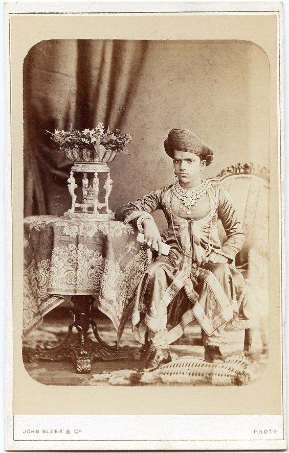 Sayajirao Gaekwad III of Baroda - 1880 cabinet card photo