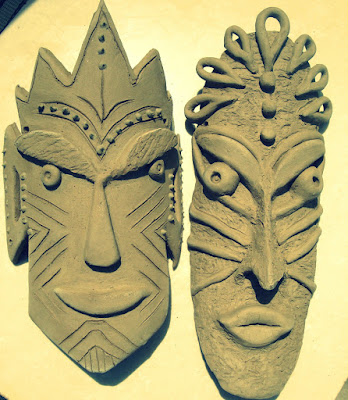 Handmade Ceramic Tribal Mask