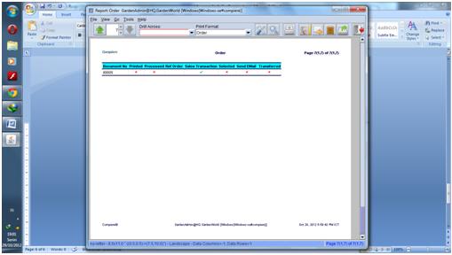 Report Sales order 7
