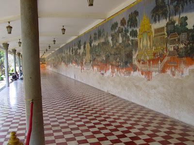 Ramayana mural, gallery, Silver Pagoda, Phnom Penh, Cambodia