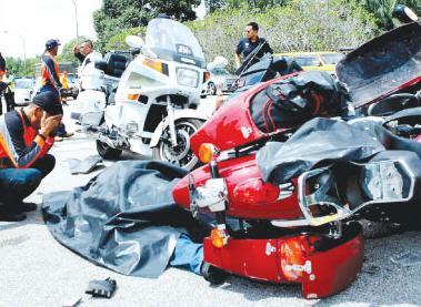 Ahli Kelab Kota Tinggi Bikers maut kemalangan