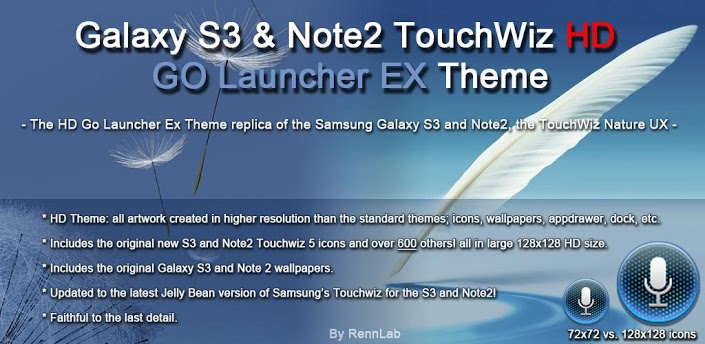Galaxy S3 & Note2 HD GO Theme v3.4 apk download