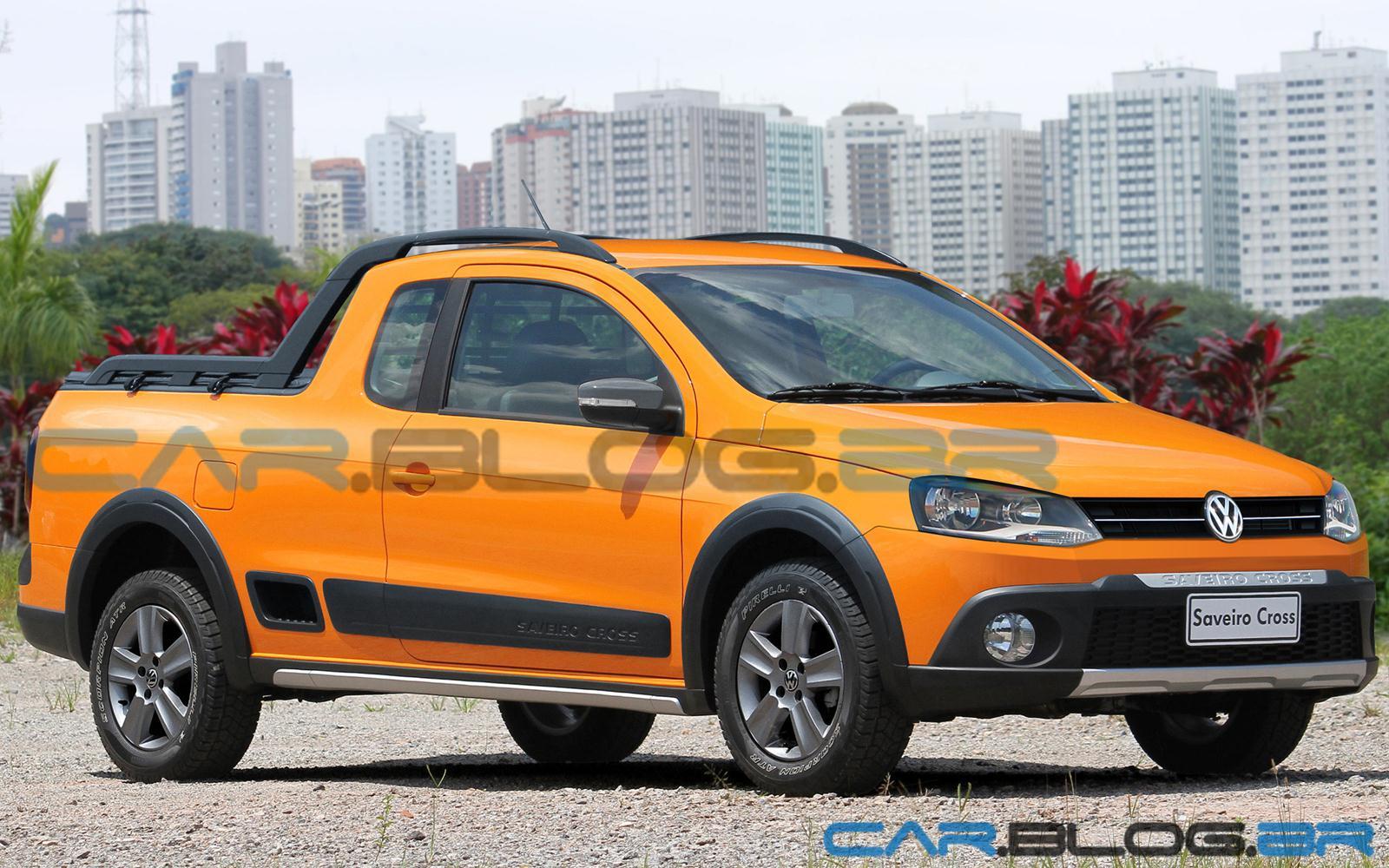 nova Volkswagen Saveiro G6 2013 com a frente do Gol e Voyage G6