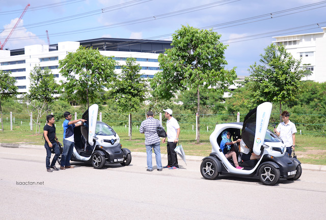 Cute, fully electric powered vehicles available to test out